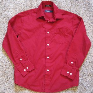 Chaps Red button down shirt size 8 boys